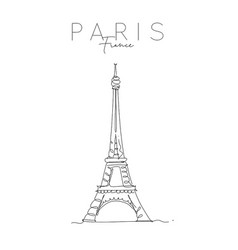 poster paris eiffel tower vector image