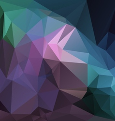 Purple violet blue green multi colored polygon vector