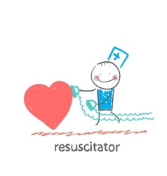 resuscitator hurry to the heart is sick vector image
