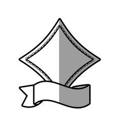Romantic label ribbon decoration vector