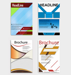 Set of business multipurpose annual report vector