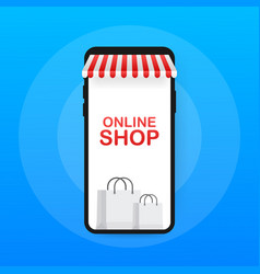 shopping online on website online store shop vector image