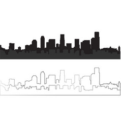 silhouette of city 10 vector image