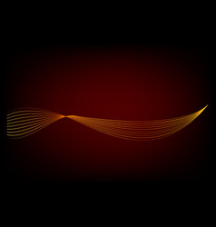 Simple abstract golden 8 wave line for element vector