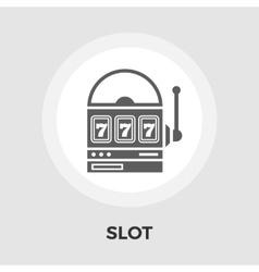 Slot flat icon vector