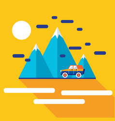 stylish car on the road travel with comfort vector image