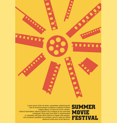 sun made film strips and film reel vector image