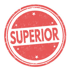 Superior sign or stamp vector