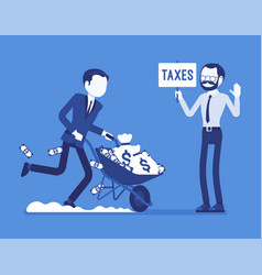 tax evasion attempt vector image