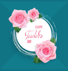 Teachers day card vector