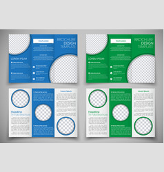 template triple folding brochure printing and vector image