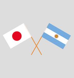 The argentinean and japanese flags vector