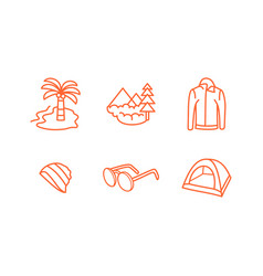 traveling icon set vector image