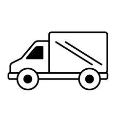 truck vehicle delivery isolated icon vector image