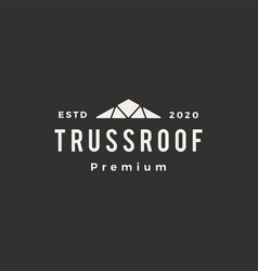 Truss roof hipster vintage logo icon vector