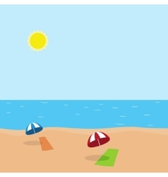 vacation at sea on beach vector image