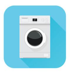 washing machine flat design blue icon vector image