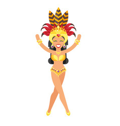 woman in carnival costume vector image
