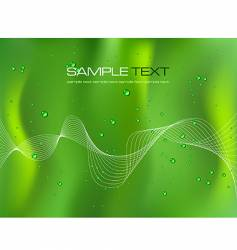 abstract green background with droplets vector image vector image