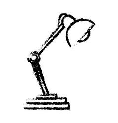 desk lamp light work object sketch vector image