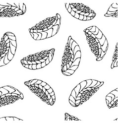 image salmon nigiri sushi ikura sushi pattern vector image vector image