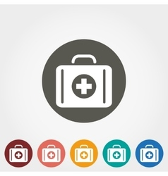 Suitcase first aid icon vector image