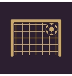 The football goal icon soccer symbol flat vector