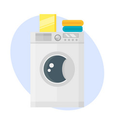 washing machine dry hygiene housework domestic vector image