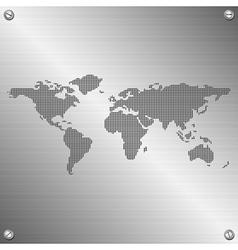 world map vector image vector image