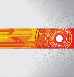 circle and arrow background vector image vector image
