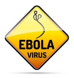Ebola virus warning sign with reflect and shadow vector