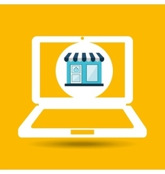 ecommerce store laptop virtual icon vector image