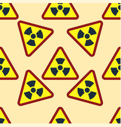 seamless pattern background nuclear power sign vector image
