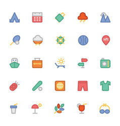 Summer Colored Icons 6 vector image