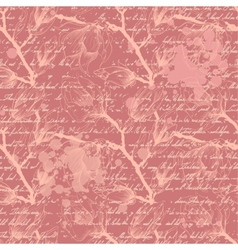 Vintage pink seamless pattern with magnolia vector image
