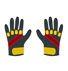 winter gloves for extreme sports - snowboard vector image vector image