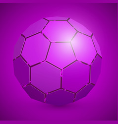 Abstract soccer 3d ball purple vector