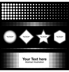 Abstract White Halftone Design Elements vector image