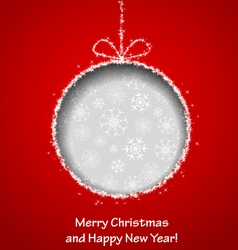 Abstract Xmas greeting card vector image