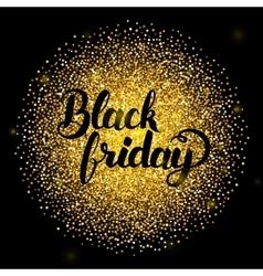 Black Friday Lettering over Gold vector image