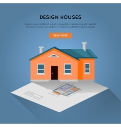 Design Houses Conceptual Web Banner in Flat Design vector image vector image