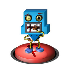 3d robot on a white background vector image