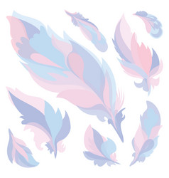 candy color feathers vector image vector image