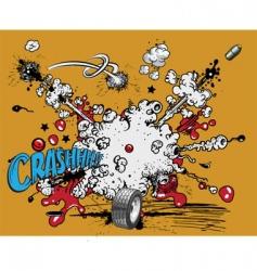 cartoon explosion vector image vector image