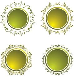 floral vintage button vector image vector image