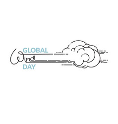 global wind day isolated on vector image