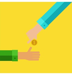 Pay and receive money vector