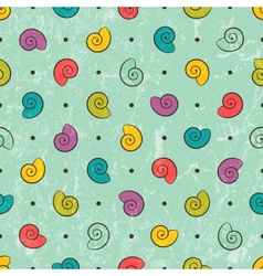 Seamless texture with colored shells vector image vector image