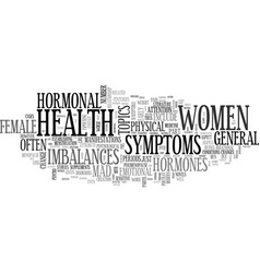 a guide to general female health text word cloud vector image