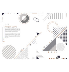 abstract geometric composition forms modern vector image